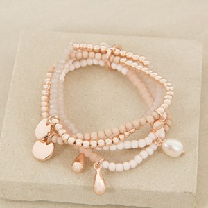 Five Strand Mixed Crystal Elastic Bracelet