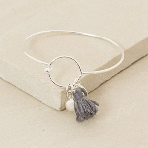 Ring and Charm Fine Bangle