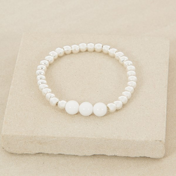 Simple Ball and Stone Bracelet