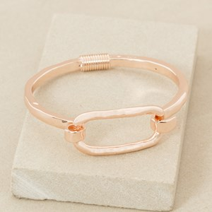Spring Fit Uneven Rectangle Bangle