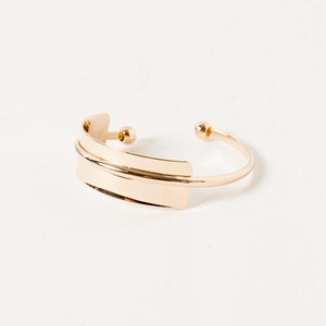 Uncentred Plate Back Ball End Bangle