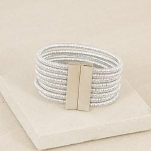 Eight Strand Fine Lurex Rope Cuff