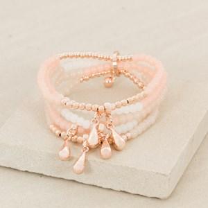 Five Strand Teardrop Bracelet