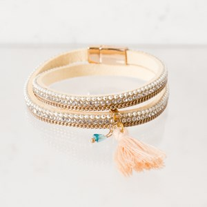 Diamante Tassel Wrap Cuff