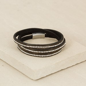 Diamante Chain Edge Wrap Cuff
