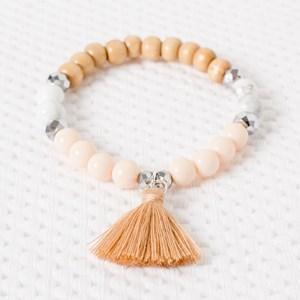 Timber Tassel Beaded Bracelet