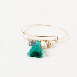Beads & Tassel Adjustable Bracelet