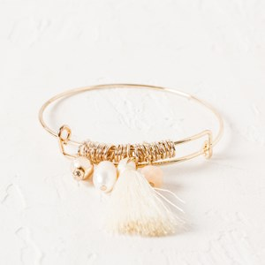 Beads & Tassel Adjustable Bracelet