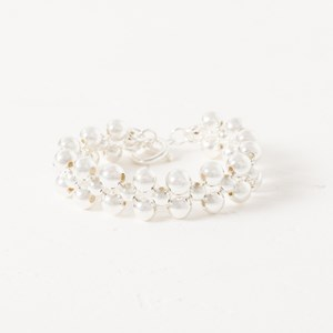 Double Ball Toggle Stretch Bracelet