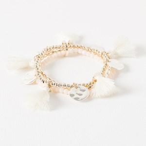 Two Tone & Tassel Bracelet
