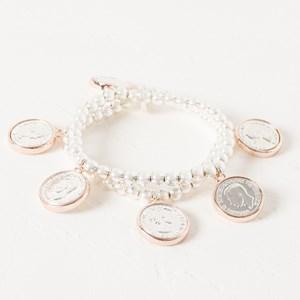 Multi Two Tone Coin Bracelet
