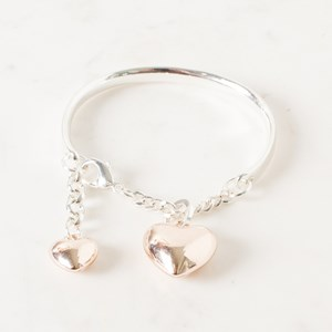 Heart Chain Bangle