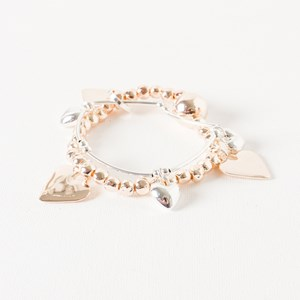 Ball & Heart Stretch Bracelet