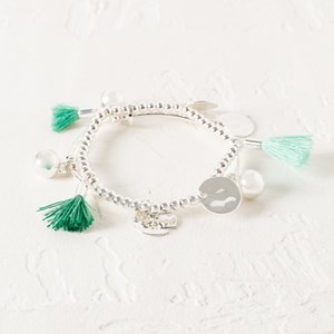 Mini Tassels Discs Bracelet