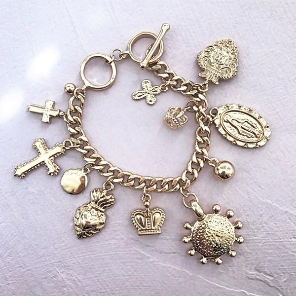 Cup of Faith Charms Toggle Bracelet