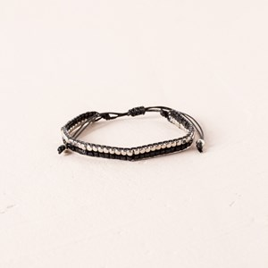 Fine Beaded Tie Closure Bracelet