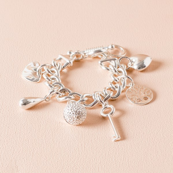 Willow Tree & Key Charm Bracelet