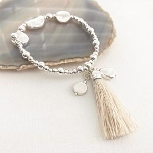 Tassel Beaded Stretch Bracelet