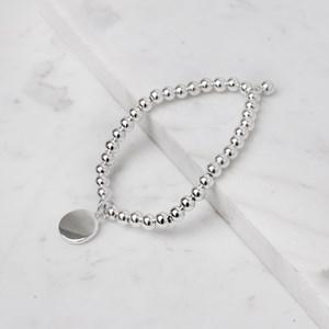 Metal Disc Ball Bracelet