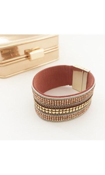 Chain Diamante Wide Cuff