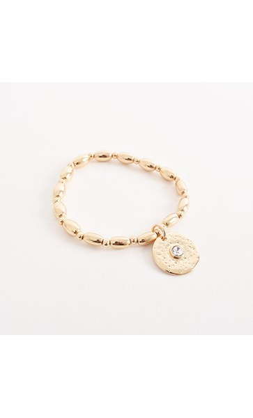 Diamante Disc Ball Charm Bracelet
