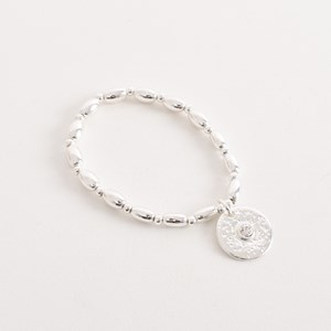Diamante Disc Ball Charm Bracelet