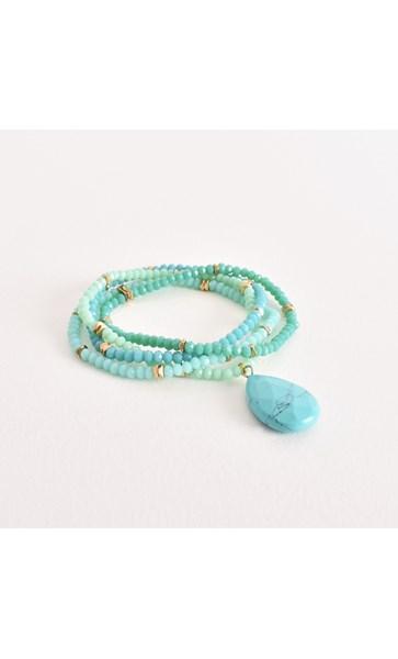 Four Strand Crystal Stone Mix Bracelet