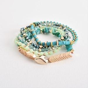Grecian Crystal Stone Mix Bracelet