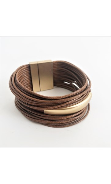 Cassidy Magnetic Leather Wrap Cuff