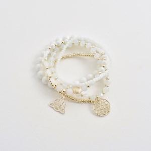Five Strand Crystal Mix Bracelet