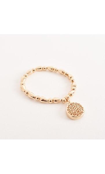 Cut Out Pattern Charm Bracelet