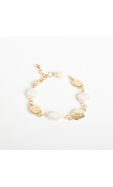 Button Pearl Cast Bracelet
