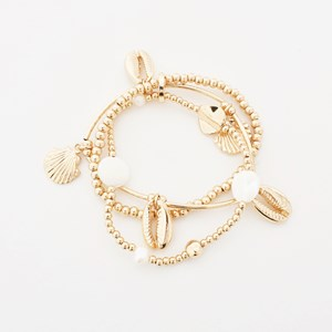 Tahiti Stretch Cast Shell Bracelet