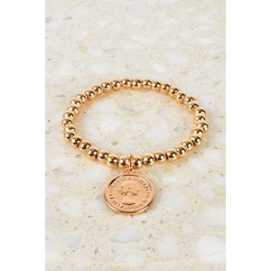 Small Bead Coin Bracelet