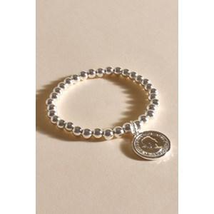 Small Bead Coin Bracelet