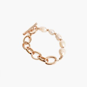 Pearl Panel Chain Bracelet