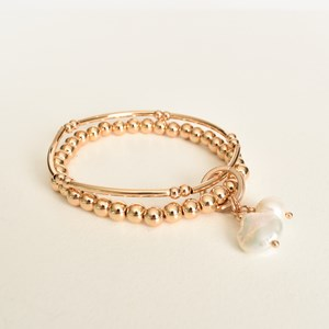 Ball Pearl Duo Stretch Bracelet