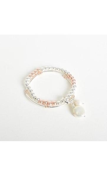 Ball Pearl Duo Stretch Bracelet