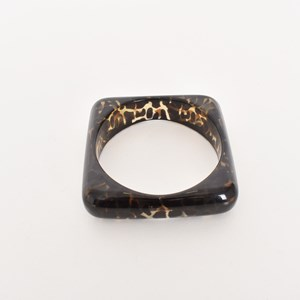 Square Cut Out Resin Bangle