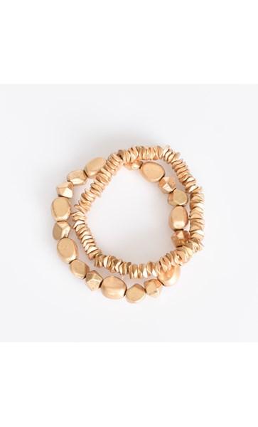 Moulded Metal Bracelet Set