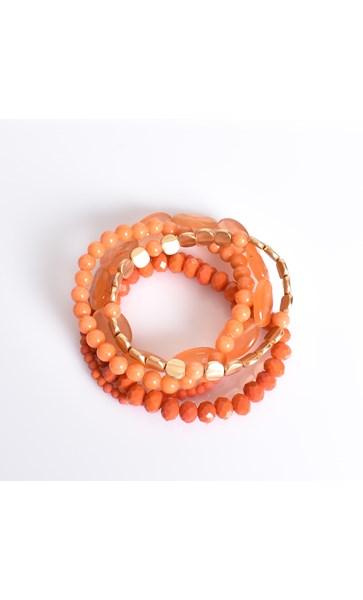 Natural Stone & Bead Multi Bracelet Set