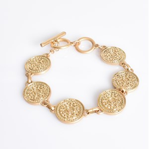 Ancient Discs Toggle Bracelet