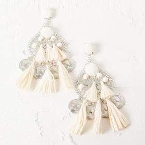 Paper Tassel & Coin Carnivale Earring