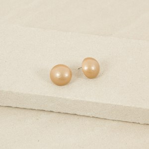 Timber Dome Button Stud Earring