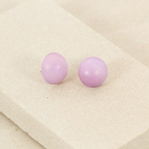 Timber Button Stud Earring