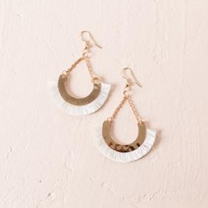 Small Half Circle Fringe Hook Earring