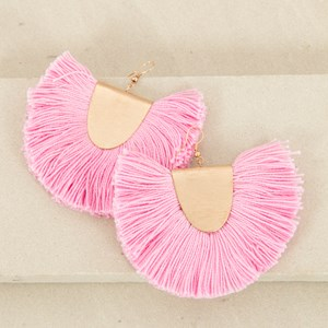 Curved Fringe Saddle on Hook Earrings