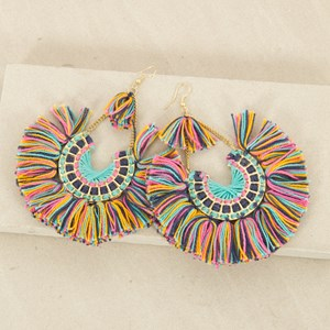 Colour Wheel on Hook Earrings