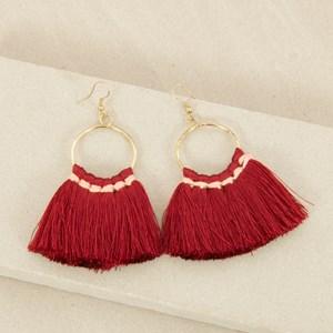 Mini Fringe Hoop on Hook Earrings