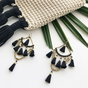 Diamante & Fringe Chandelier Earring